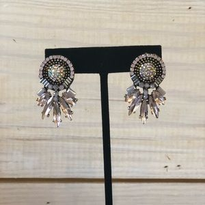 Beautiful, statement earrings, NWT, gray/pink